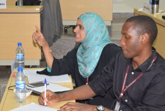 MBA Healthcare Management students interact with Prof Nina Wallerstein during a guest speaker session
