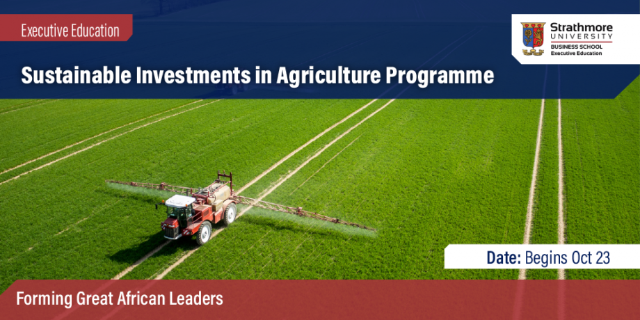Sustainable Investments in Agriculture Programme - Registration of