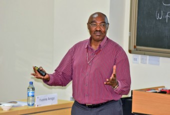Dr. Thomas Kibua giving a lecture on rethinking public policy; a Kenyan perspective.